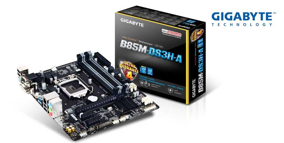 Placa base gigabyte Intel b85m-ds3h-a lga 1150 DDR3x4 1600mhz VGA dvi HDMI micro ATX