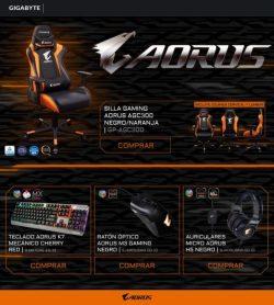 comprar silla gaming aorus