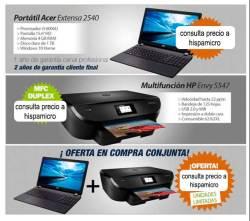 Kit Portátil Acer Extensa 2540 i3 / 4 GB / 1 TB / Win10 + HP Envy 5547 Multifunción