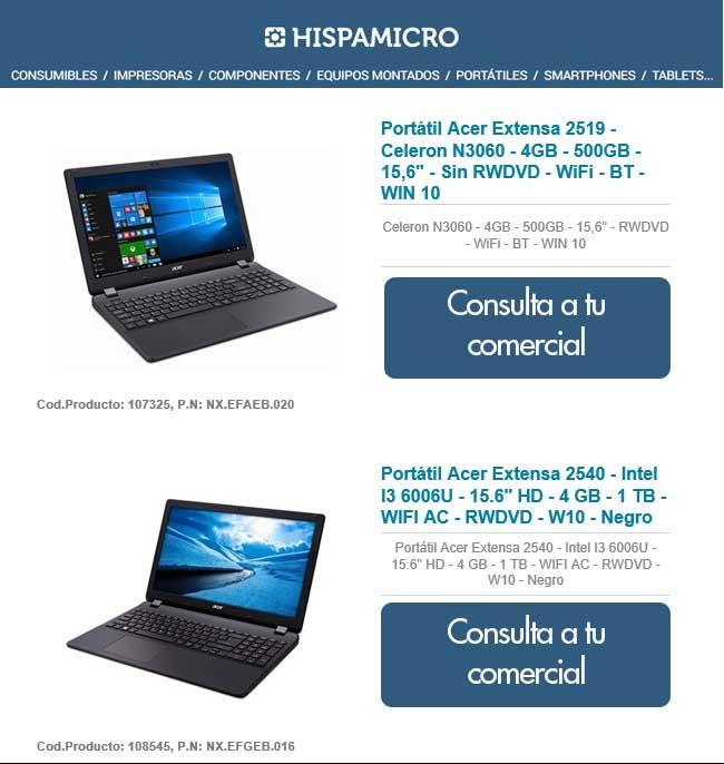 promocion Acer en hispamicro