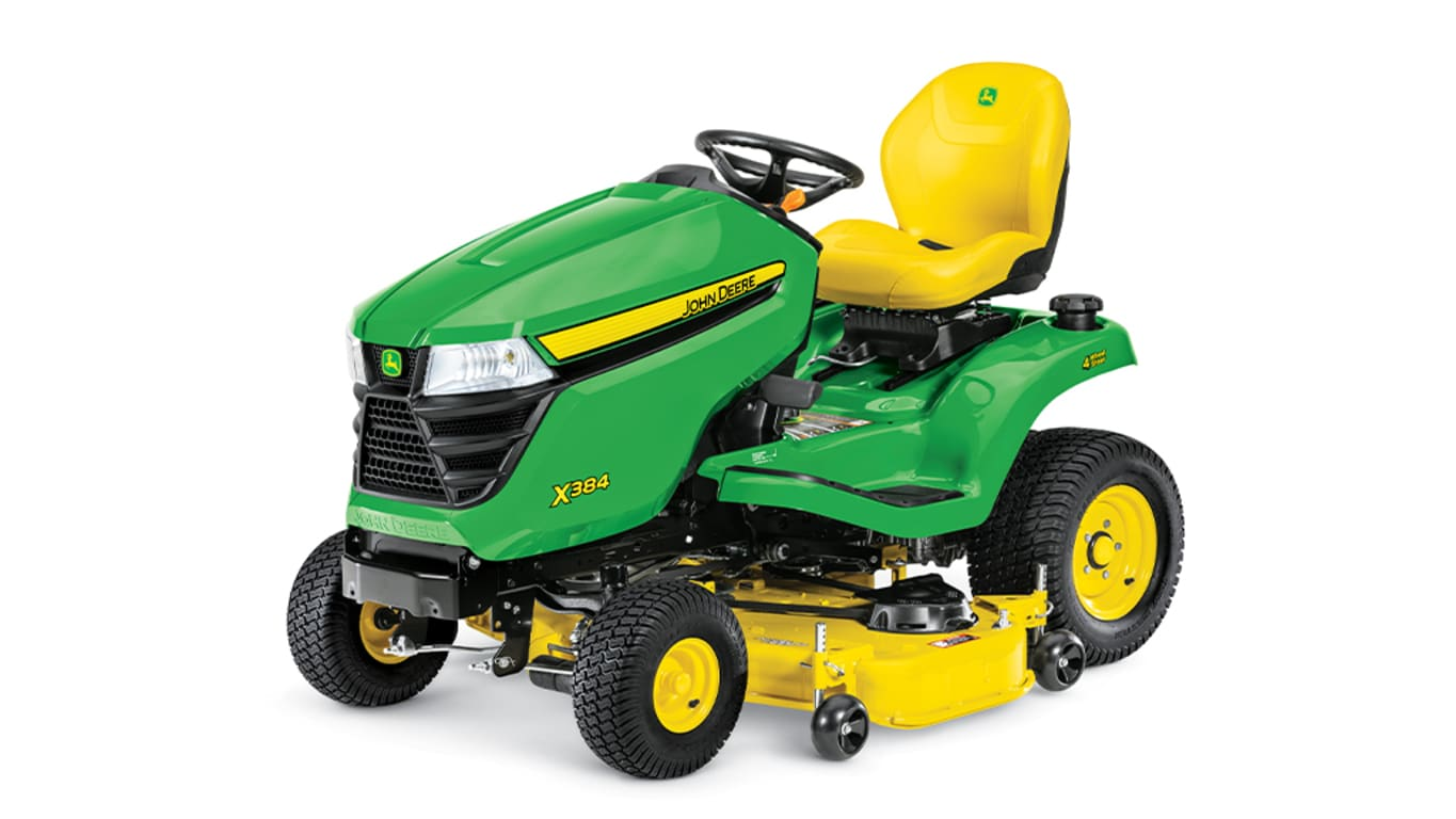 hight resolution of new x384 lawn tractor with 48 inch deck