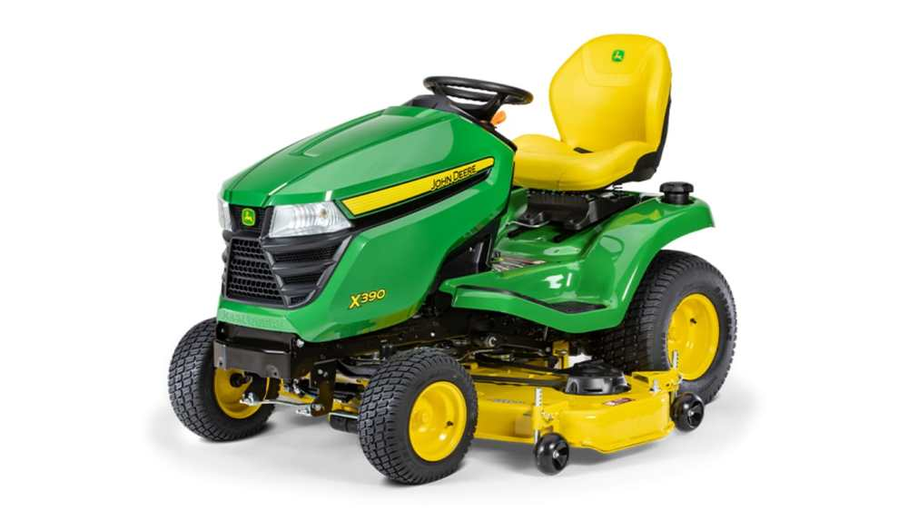 medium resolution of new x390 lawn tractor with 48 inch deck