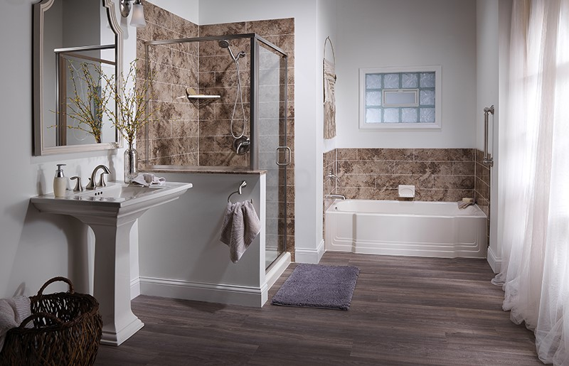 one day affordable bathroom remodel