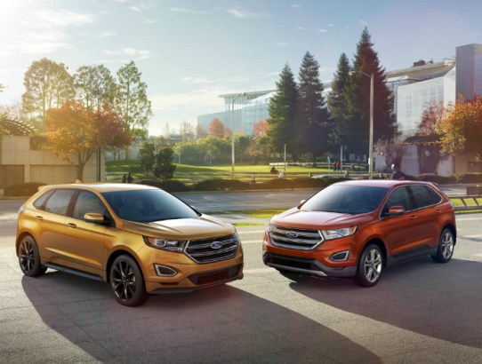 2015 Red and Gold Ford Edge