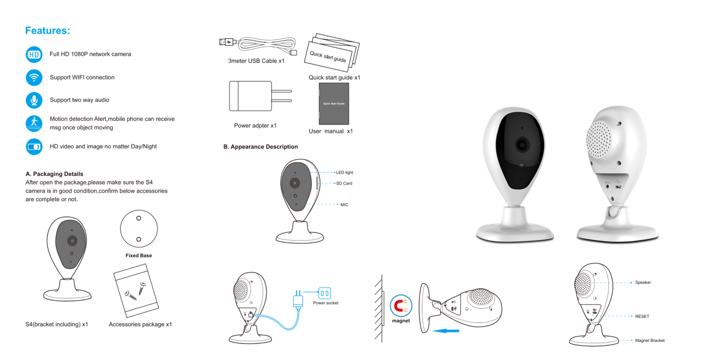 ECL-IPCW2 S4F High Definition Wireless Smarthome IP Camera