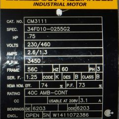 Baldor 5hp Motor Wiring Diagram 1999 Toyota 4runner 115 230 Volt Single Ph 1/2 Hp ~ Elsalvadorla