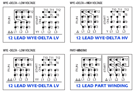 Three Phase Electric Motor Wiring Diagrams – Dealers Industrial