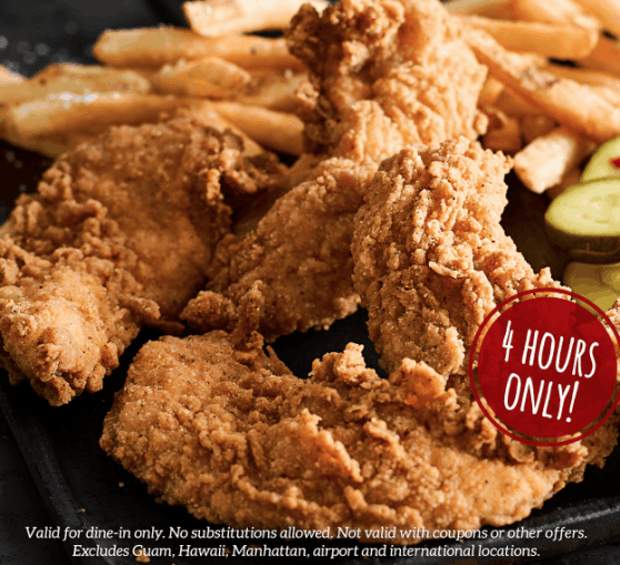 RUBY TUESDAY: $5 CHICKEN TENDERS & FRIES TODAY