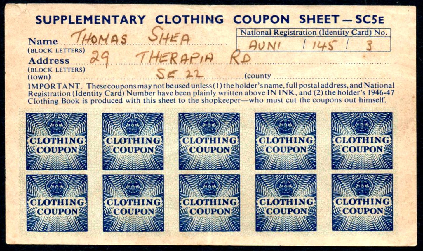 Coupons And Rationing During World War Ii