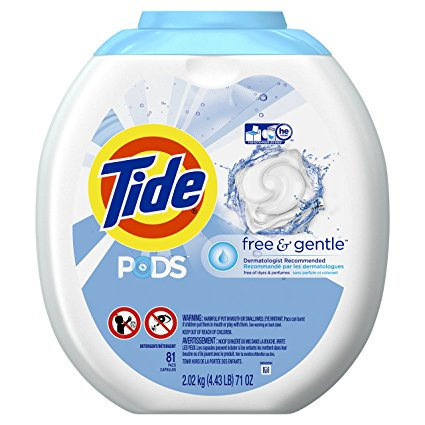 Tide PODS Free & Gentle HE Turbo Laundry Detergent Pacs 81-load Tub  Tide Hot Deal $18.97