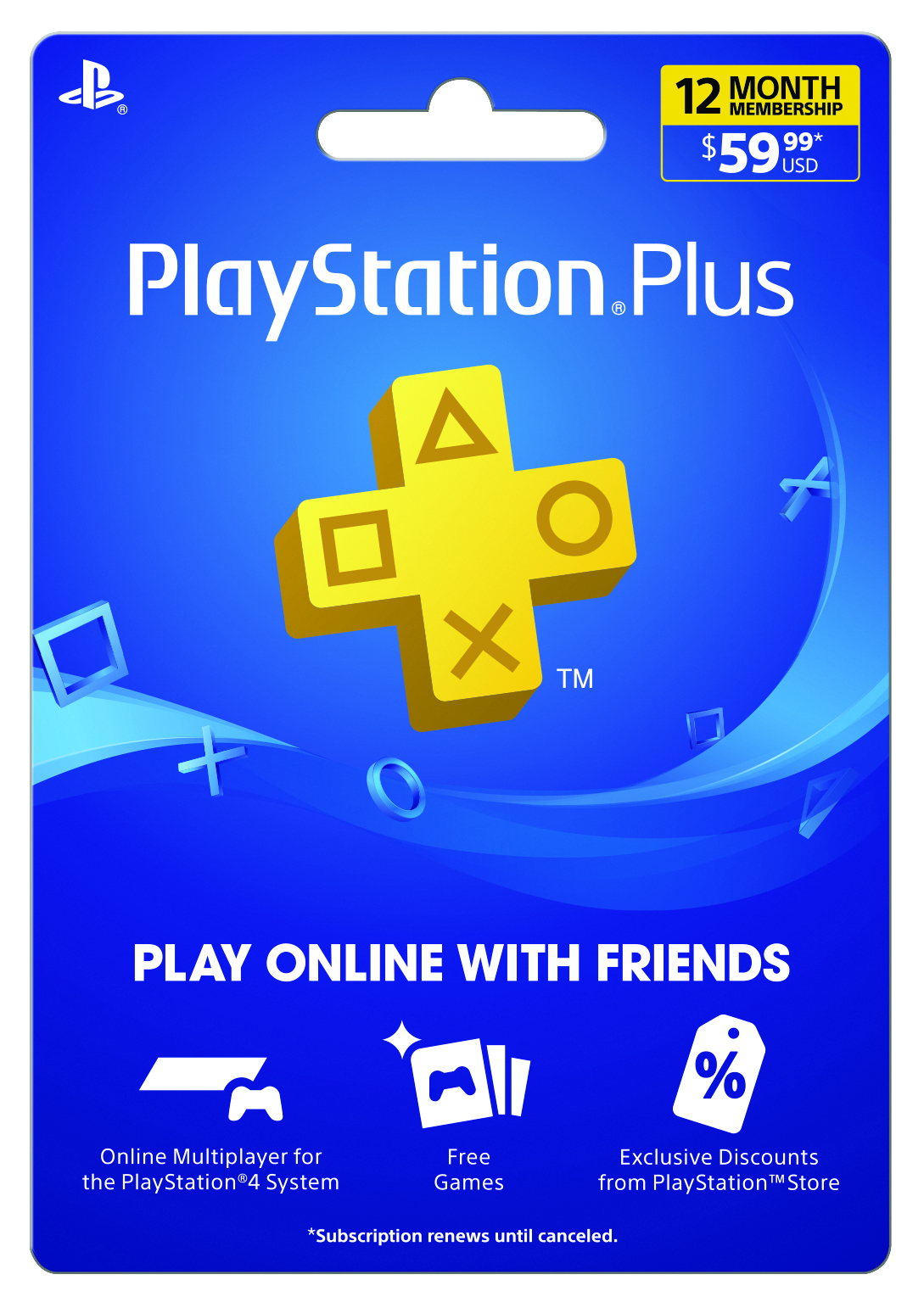 Sony PlayStation Plus 12 Month Subscription for PlayStation 4 – only $44.99! ($15 off)