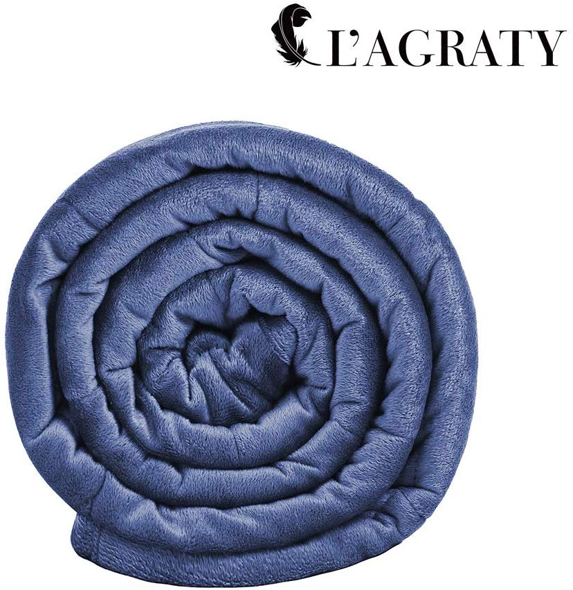 L'AGRATY Luxury Minky Weighted Blanket only $10! (was $75)