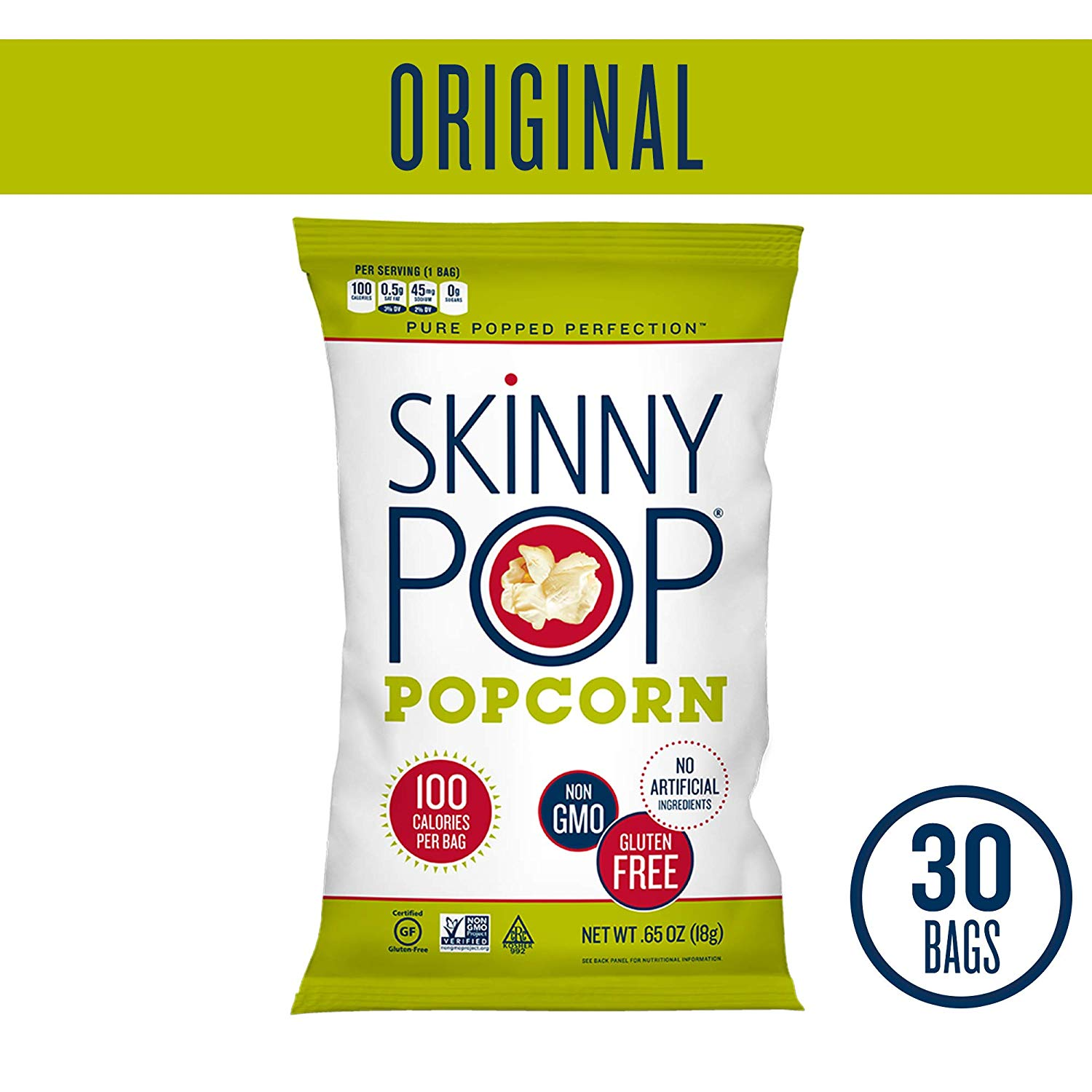 30 SKINNYPOP Original Popped Popcorn Bags only $8.93 with coupon!