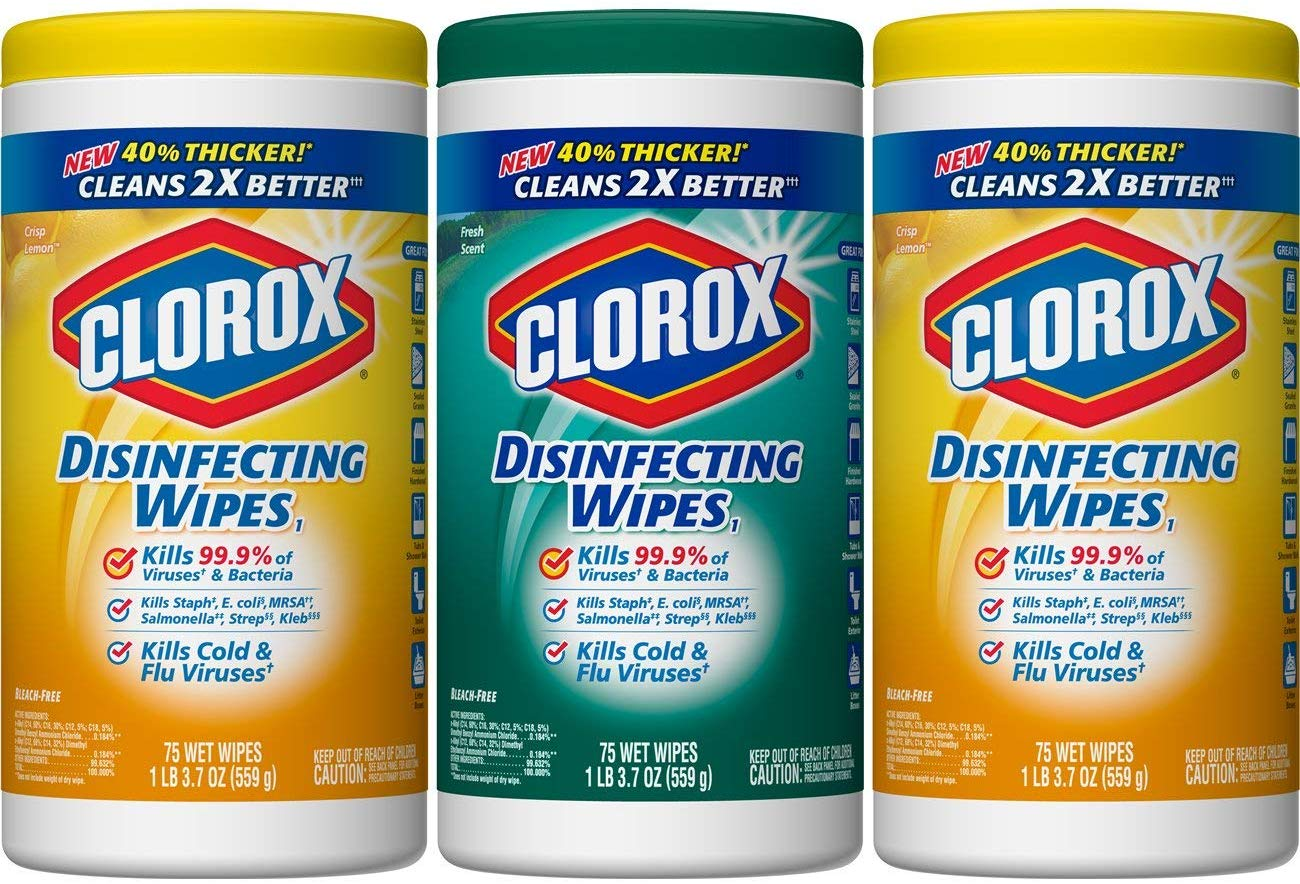 Pack of 3 Clorox Disinfecting Wipes only $6.99 with coupon!