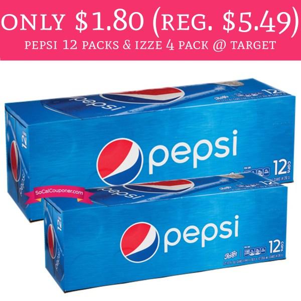 Starting 2 26 - 1.80 Regular 5.49 Pepsi 12 Packs & Izze 4 Pack Target Deal Hunting Babe
