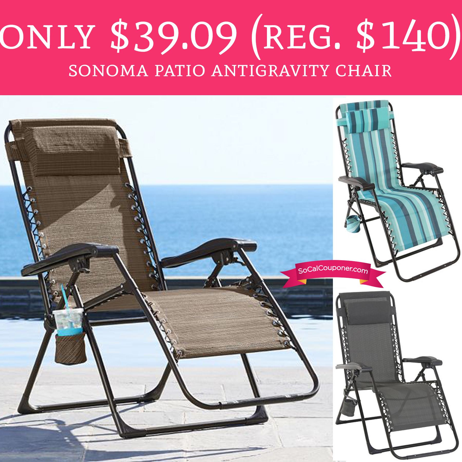 Sonoma Outdoors Antigravity Chair Only 39 09 Regular 140 Sonoma Patio Antigravity Chair