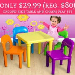 Play Table And Chairs White Chair Slipcovers Only 29 99 Regular 80 Oxgord Kids