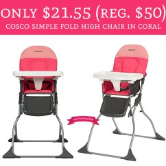 Fold Down High Chair How To Clean Plastic Chairs And Tables Wow Only 21 55 Regular 50 Cosco Simple