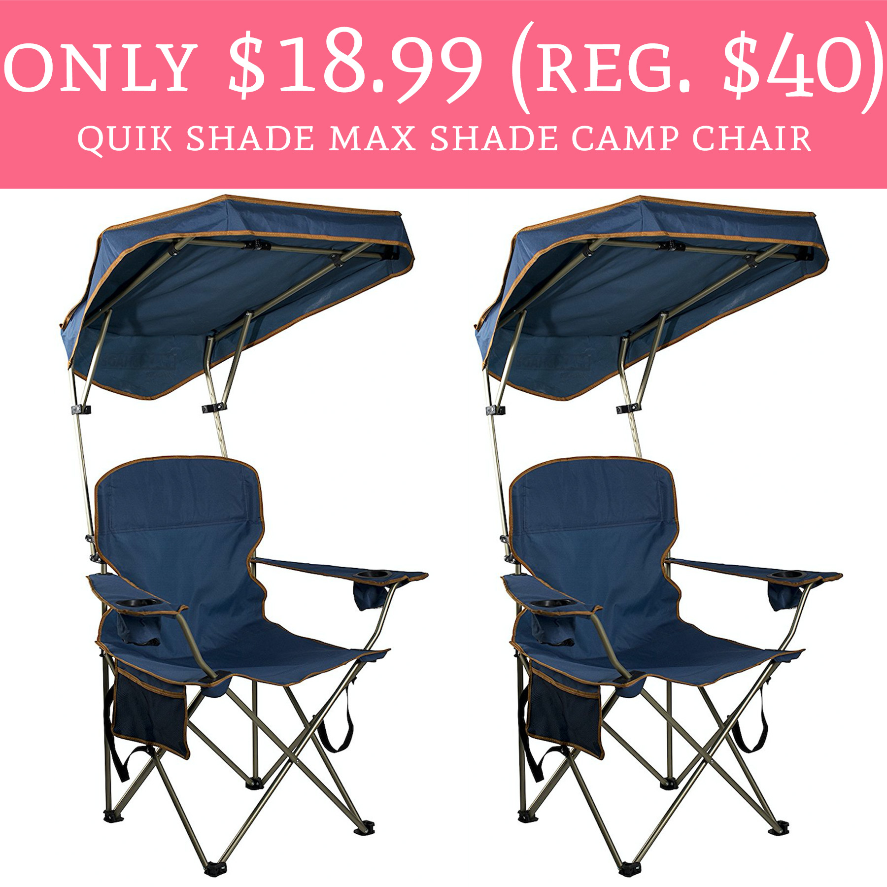 quik shade chair posture ball office hot only 18 99 regular 40 max camp