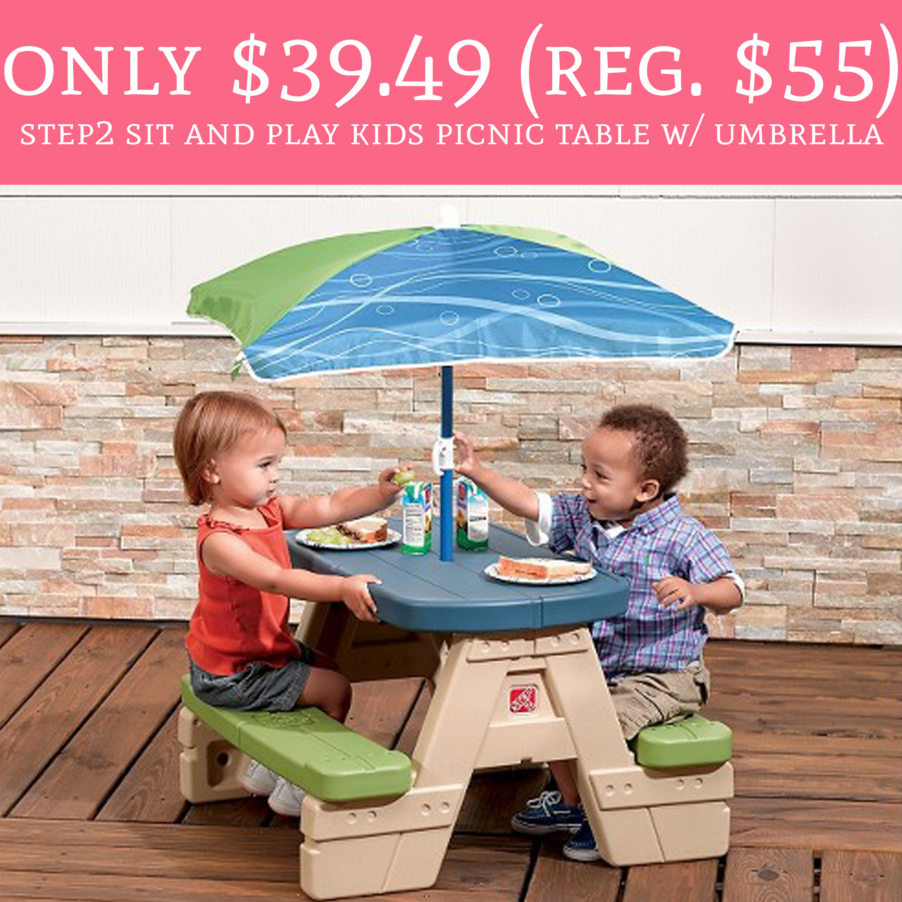 step2 table and chairs with umbrella ikea childrens chair rare savings 39 49 regular 55 sit play kids