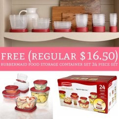Rubbermaid Kitchen Storage Containers Moen Touch Control Faucet Run Free Reg 16 50 Food Container Set 24 Do You Need New