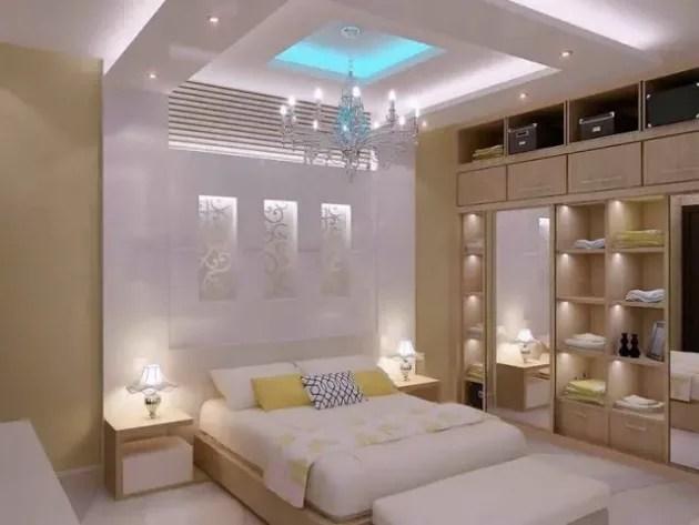 أحدث تصميمات أسقف من الجبس لغرف النوم2