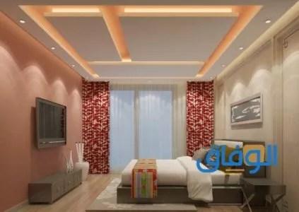 أحدث تصميمات أسقف من الجبس لغرف النوم3