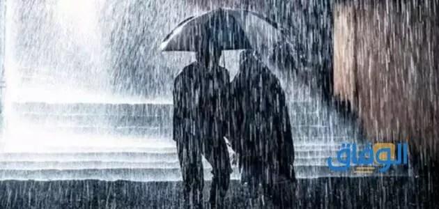 المطر للعزياء ودلالاته