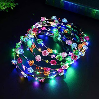 AMAZON   4.50 (Reg.  9.99) + Free Ship LED Flower Crown 0e98aa621c6