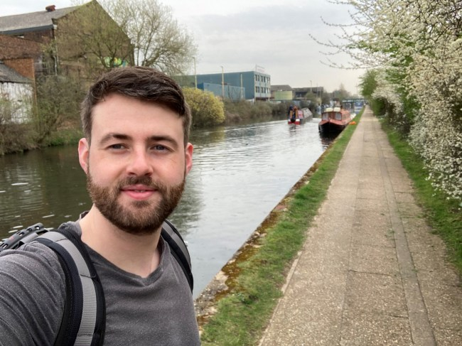 Selfie along the canal