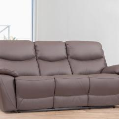 Chelsea Leather Sofa Modern Office Sofas Recliner Three Seater Lounge Life