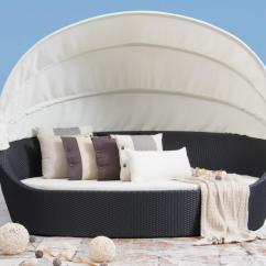 Canopy Daybed Outdoor Wicker Sun Sofa Lounge Beds Melbourne Victoria Lavita Furniture