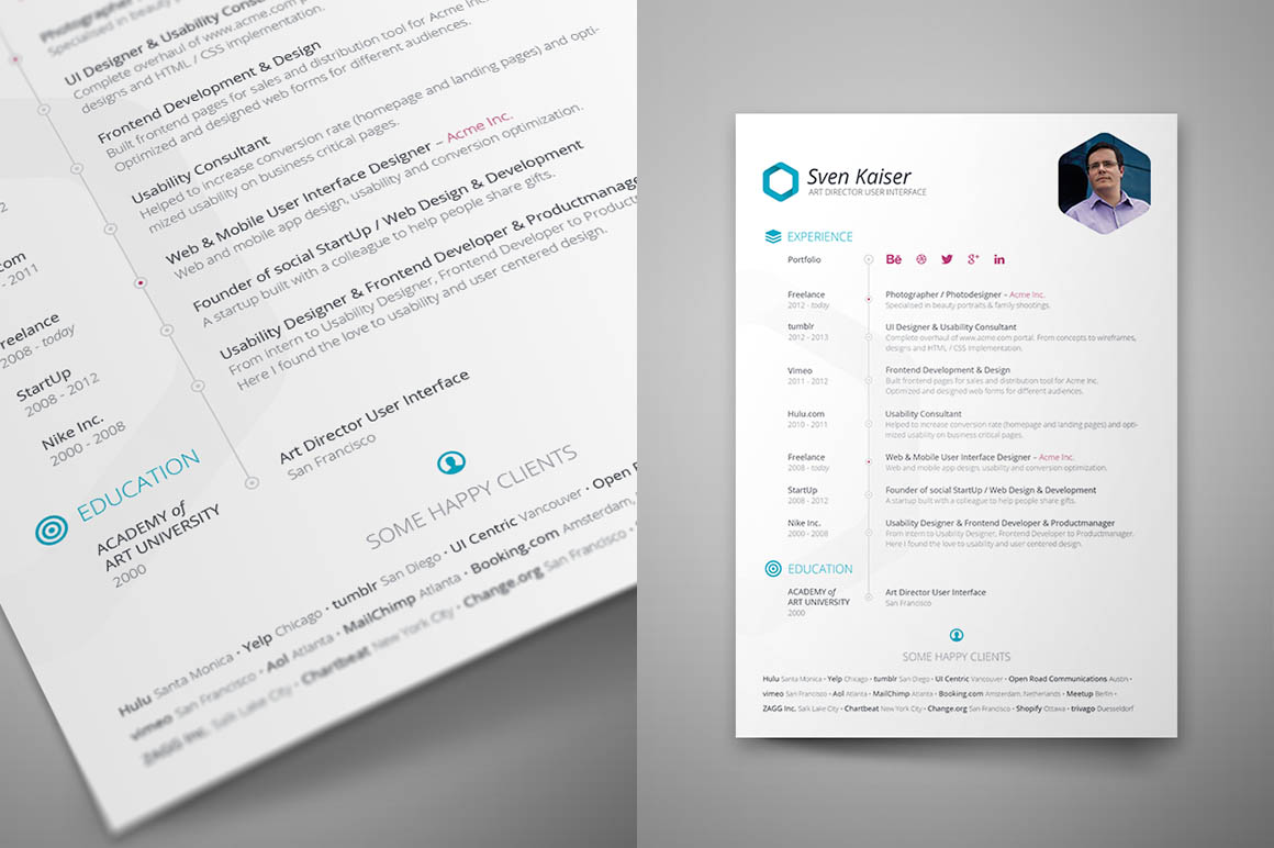 Resume Indesign Indesign Resume Templates Resume Template Easy Http