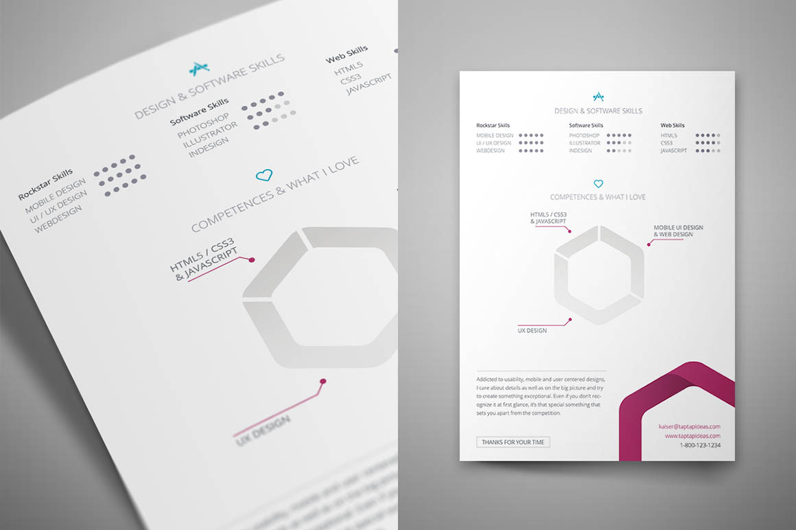 Resume Indesign Free Indesign Resume Template Resume Template Easy