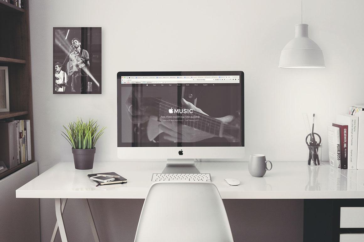 iMac Office Mockup  Free PSD  Dealjumbocom  Discounted