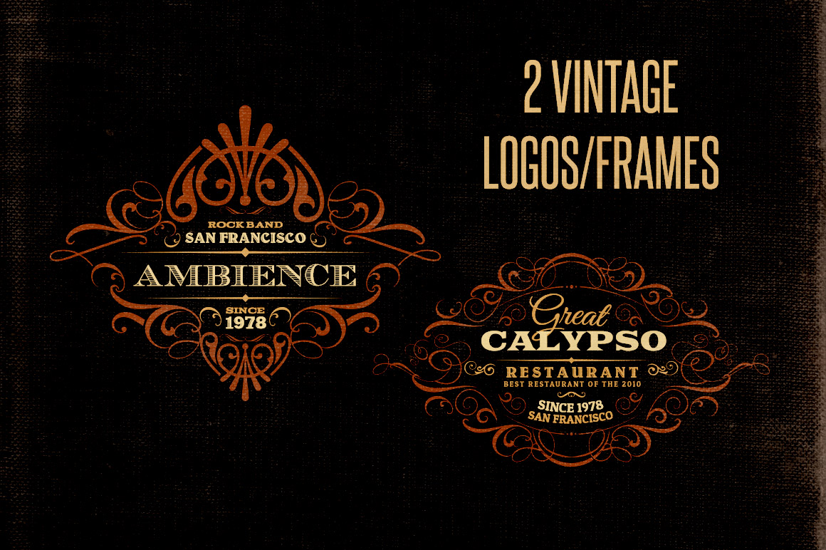 Free Vintage Logo Creator Kit Discounted Design Bundles With Extended License