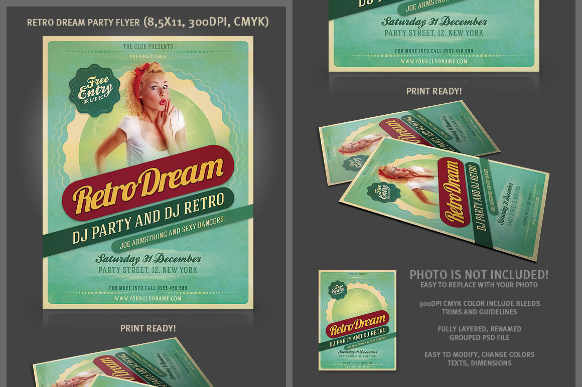 9 Vintage/retro Style Business Card Templates
