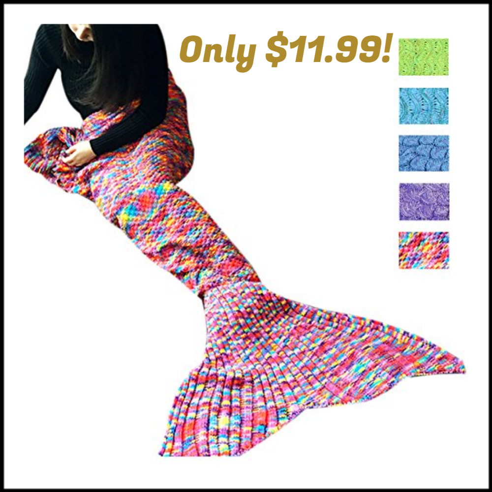 Awkli Warm Mermaid Tail Blanket Only 1199 DEAL MAMA