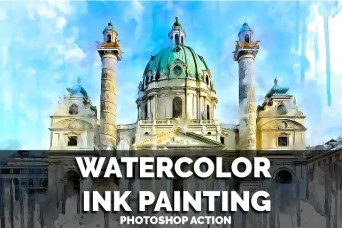 10 in 1 Watercolor Collection Bundle Photoshop