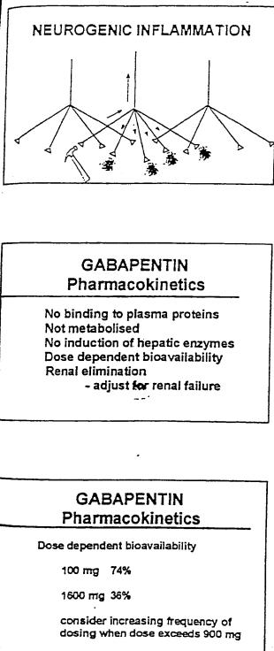 gabapentinpharmacokinetics