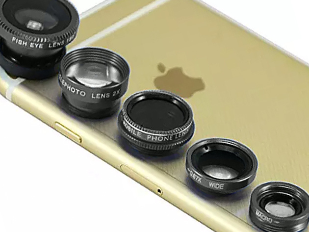 Clip & Snap Smartphone Camera Lenses: 5-Pack for $23