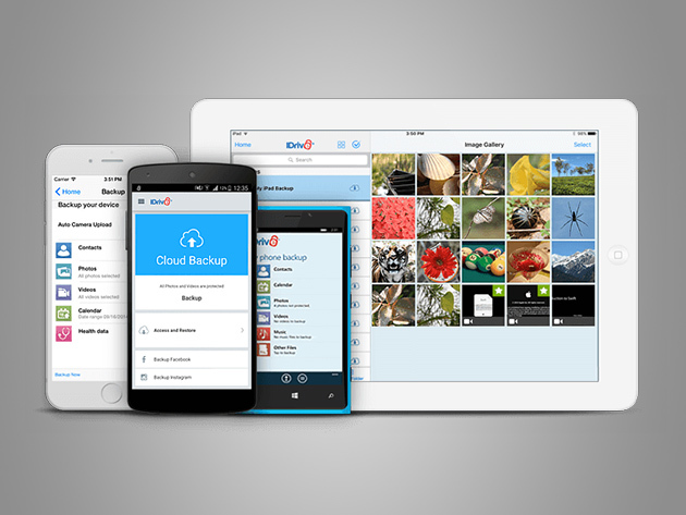 IDrive Unlimited Mobile Backup: Lifetime Subscription for $19