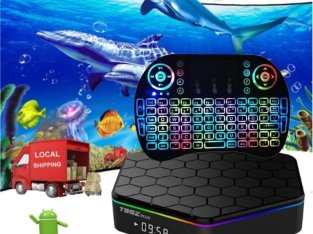 Smart TV Box T95Z Plus Android 7.1 S912 Octa Core 3+32GB 4K Media Player+Free Back-lit Keyboard