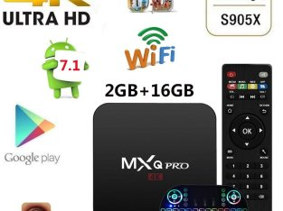 MXQ PRO S905X Quad Core 2+16G Android 7.1 HD 4K Smart TV Box 3D WiFi KODI 17.6 +Backlit keyboard