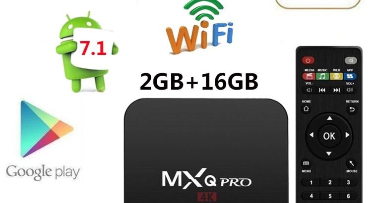 MXQ PRO S905X Quad Core 2+16G Android 7.1 HD 4K Smart TV Box 3D WiFi KODI 17.6 +Backlit keyboard