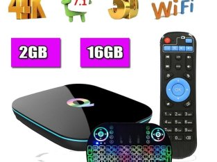 Q BOX 2GB/16GB Android7.1 Amlogic S905X Smart TV BOX WIFI+Backlit keyboard