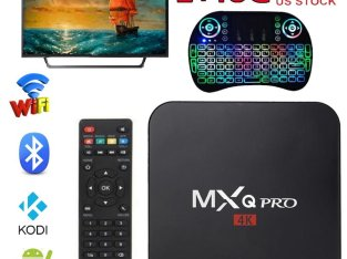 Andorid 7.1 MXQ Pro Smart TV BOX Amlogic S905X Quad Core 4K 1080P 2G/16G KODI +Free Keyboard