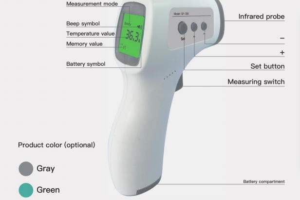 IR Contact less Thermometer