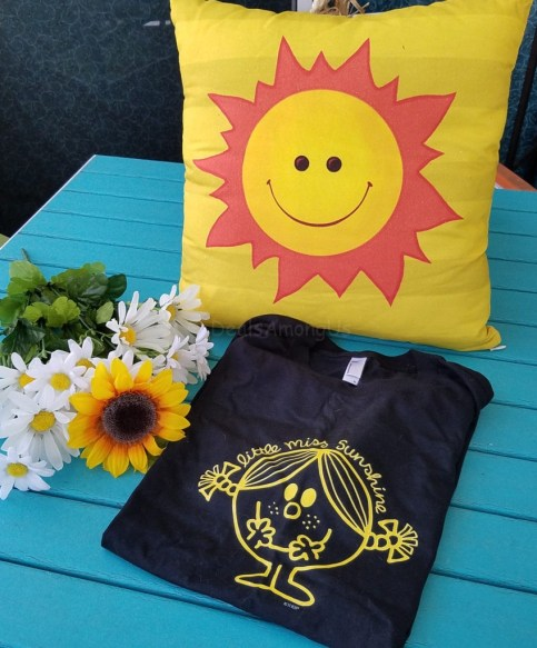 PIllow and LIttle Miss Sunshine Tshirt
