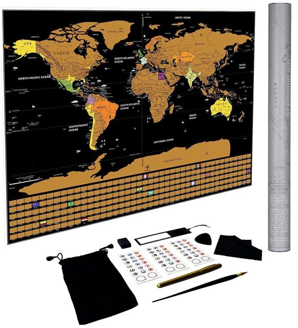 Deals finders amazon scratch off world map poster us states scratch off world map poster us states and country flags gumiabroncs Gallery